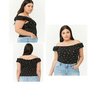 ec428a90e7 Tops - Plus Size Cherry Graphic Print Top white